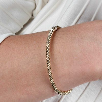 Toscano Stretchy Bangle Bracelet 14K