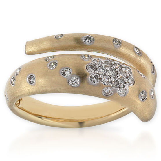 Whitney Stern Diamond Ring 14K, Size 6