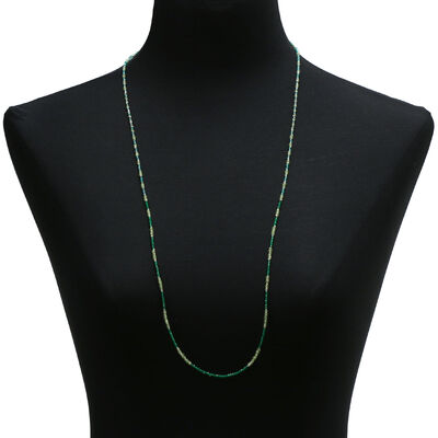 "Lisa Bridge Peridot & Quartz Necklace, 35"""