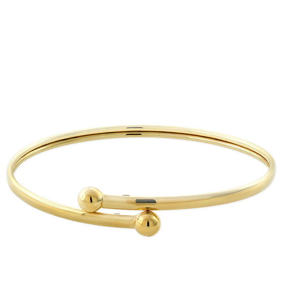 Gold Bypass Bangle 14K
