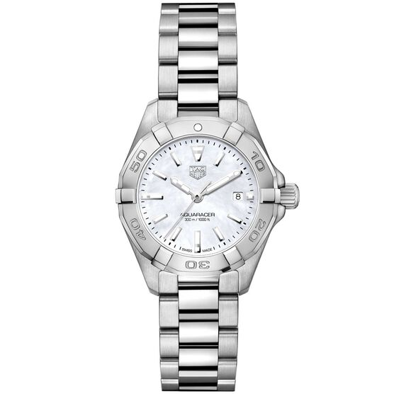 TAG Heuer Aquaracer Quartz Ladies Mother of Pearl Steel Watch