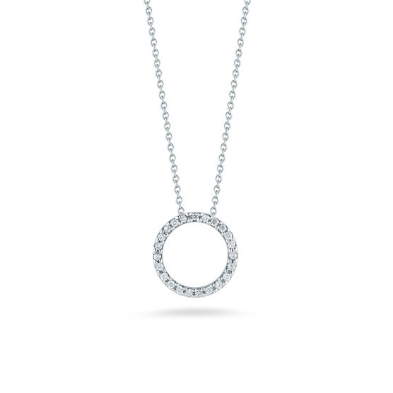Roberto Coin Tiny Treasures Diamond Circle Pendant 18K