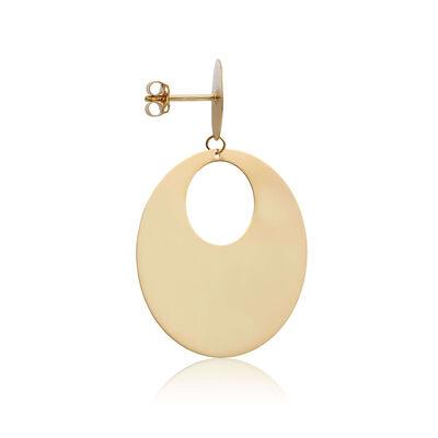 Toscano Mirrored Circle Door Knocker Earrings 14K