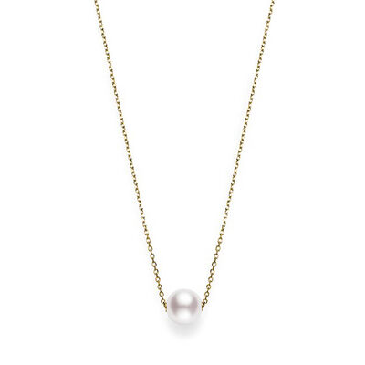 Mikimoto Akoya Cultured Pearl Necklace 8mm, A+, 18K