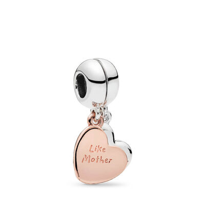 Pandora Rose™ & Silver, Mother & Daughter Love Dangle Enamel Split Charm