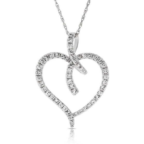 Diamond Heart Pendant 14K
