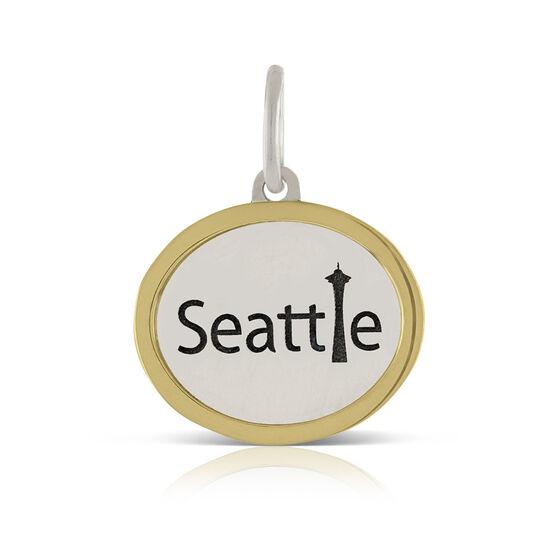 Seattle Space Needle Charm / Pendant, Silver & 14K