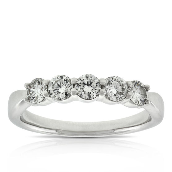 Diamond 5-Stone Band 14K, 3/4 ctw.