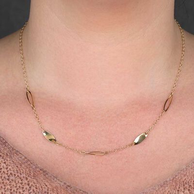 Twisted Link Chain 14K