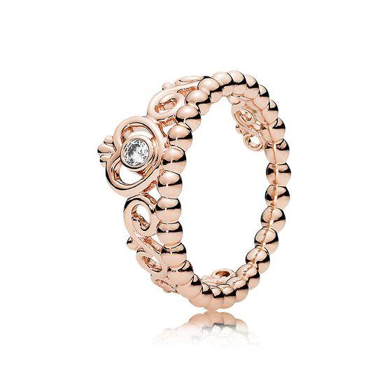 Pandora Princess Tiara Crown CZ Ring