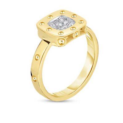 Roberto Coin Pois Moi Diamond Ring 18K, Size 6.5