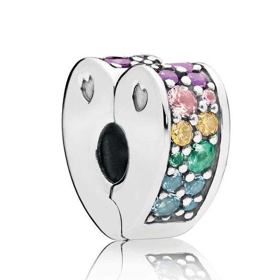 Pandora Multi-Color Art of Love Crystals & CZ Clip