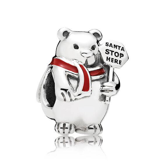 PANDORA Christmas Polar Bear Enamel Charm