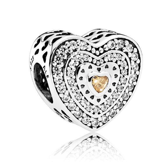PANDORA Lavish Heart  CZ Charm