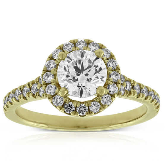 Ikuma Canadian Diamond Halo Engagement Ring 14K