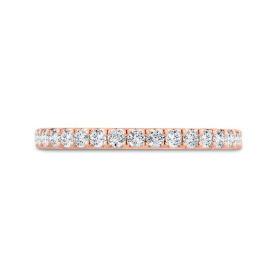 Bella Ponte Rose Gold Diamond Band 14K, 1/4 ctw.