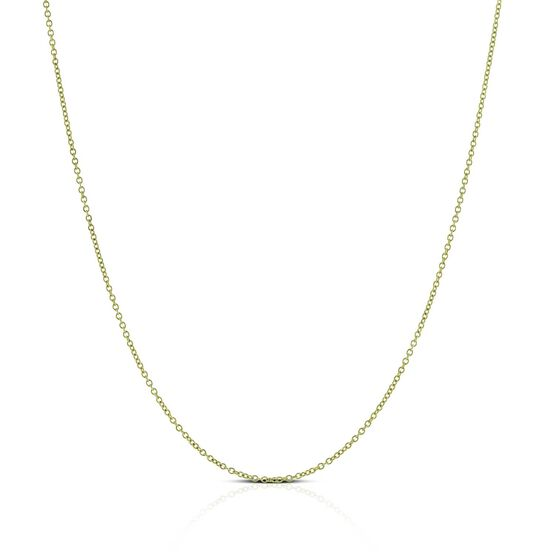 """Rolo Cable Chain 18K, 18"""""""