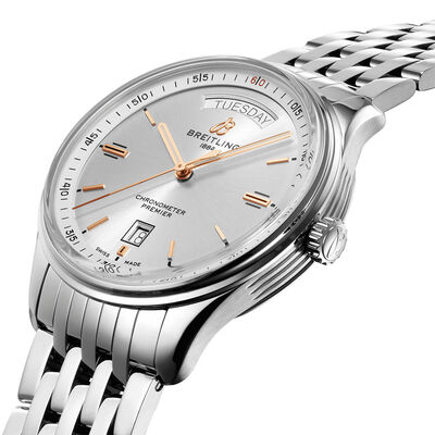Breitling Premier Automatic Day & Date 40 Silver Dial Watch