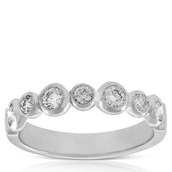 Bezel Set Diamond Band 14K, 5/8 ctw.
