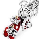 Pandora Disney Minnie Mouse Chinese New Year Enamel & CZ Dangle Charm