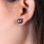 Cultured South Sea Tahitian Pearl Stud Earrings 14K