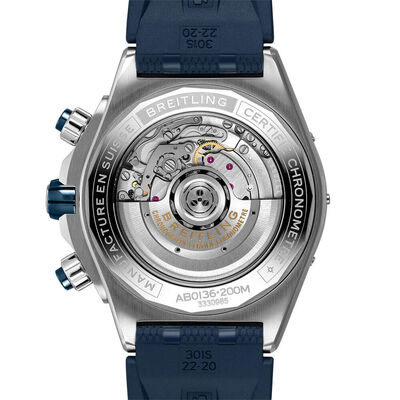 Breitling Super Chronomat B01 44 Blue Rubber Watch, 44mm