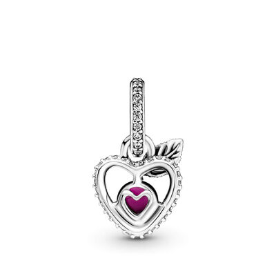 Pandora Disney Snow White Apple Crystal Pendant