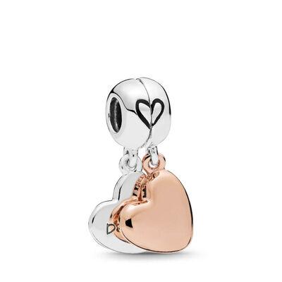 PANDORA Rose™ & Silver, Mother & Daughter Love Dangle Enamel Split Charm