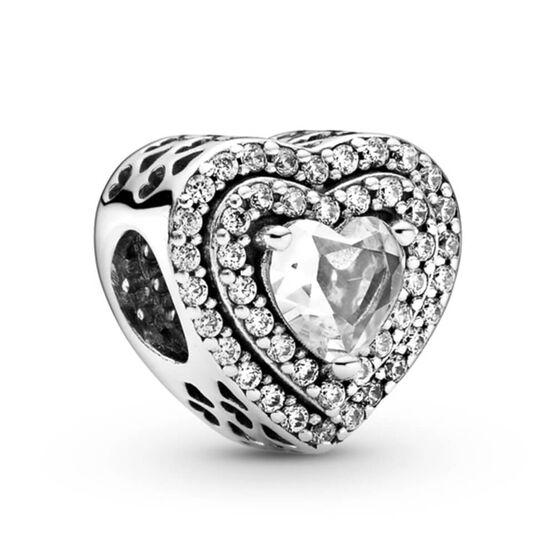 Pandora Sparkling Leveled Hearts CZ Charm