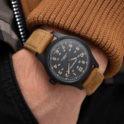 Hamilton Khaki Field Black PVD Titanium Automatic Watch, 42mm
