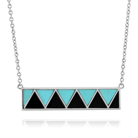 Lisa Bridge Turquoise &  Black Onyx Bar Necklace