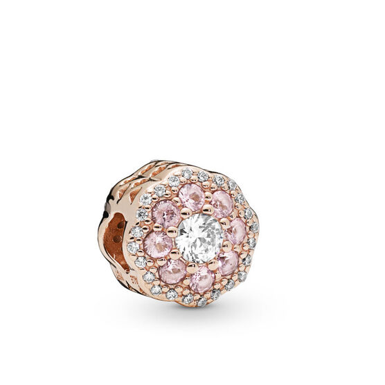 Pandora Rose™ Pink Sparkle Flower Crystal & CZ Charm