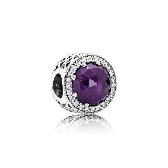 Pandora Purple Radiant Hearts Charm