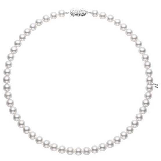 "Mikimoto Akoya Cultured Pearl Strand Necklace A, 18"", 18K"