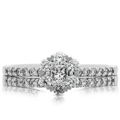 Princess Cut Diamond Bridal Set 14K
