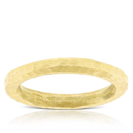 Toscano Roman Hammered Ring 14K, Size 8
