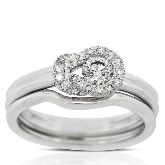 Everlon™ Diamond Knot Collection Bridal Set 14K