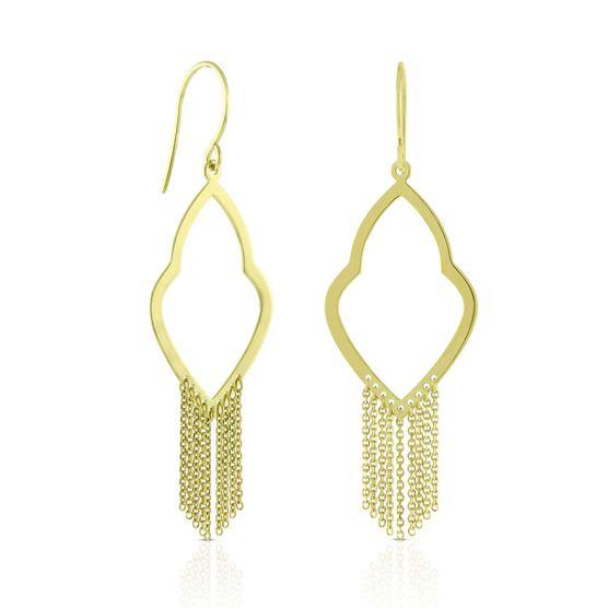 Fancy Drape Earrings 14K