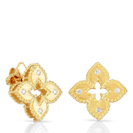 Roberto Coin Petite Venetian Princess Diamond Earrings 18K