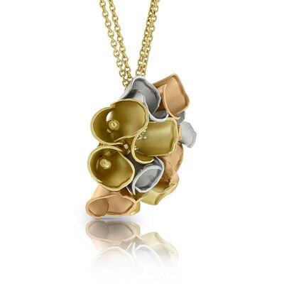 Toscano Diamond Flower Necklace 14K