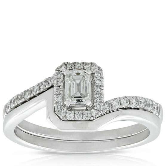 Emerald Cut Bridal Set 14K