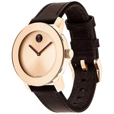Movado Bold Rose IP Brown Detailed Watch, 36mm