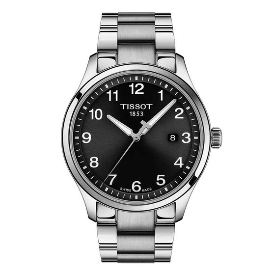 Tissot XL Black Dial Stainless Watch, 42mm