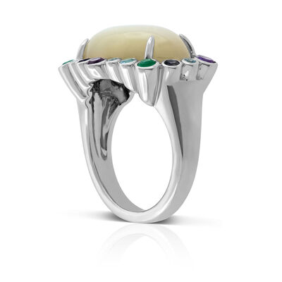 Lisa Bridge Oval Gemstone Ring