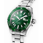 TAG Heuer Aquaracer Calibre 5 Green Dial & Bezel Watch, 43mm