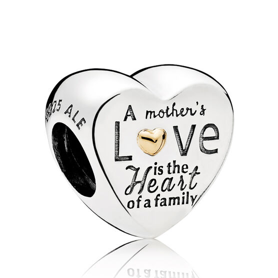Pandora Heart of the Family Charm, Silver & 14K