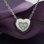 Lisa Bridge Hearts Combined Diamond Necklace