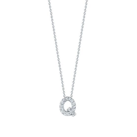 Roberto Coin Tiny Treasures Diamond Initial Pendant 18K Letter 'Q'