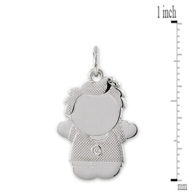 Boy Charm / Pendant with Diamond 14K