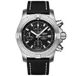 Breitling Avenger Chronograph 43 Black Leather Watch, 43mm